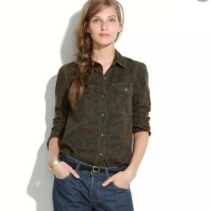 Madewell Camouflage Tomboy Button Work Shirt